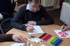 Valentines Day activities at Bank House Close care home Chesterfield