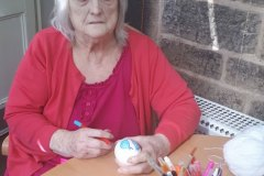 egg decorating residential care  home Chesterfield