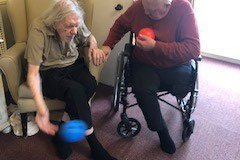 Bowling at our care home in Chesterfield