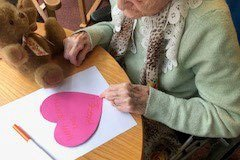 Valentines Day in our care home in Chesterfield