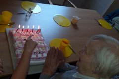 Birthday celebrations for Meg at care home in Hyde