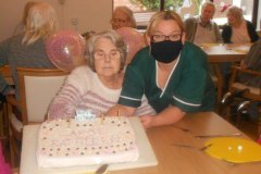 January Birthdays at nursing home in Hyde