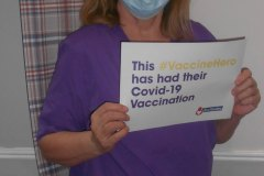 Our vaccine heroes at our care home in Hyde