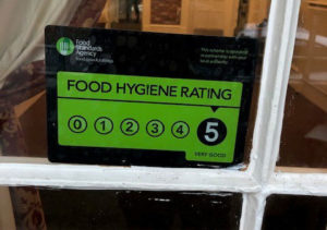 food hygiene award care home Chesterfield