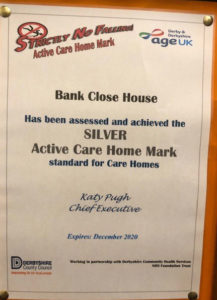 silver award care home Chesterfield