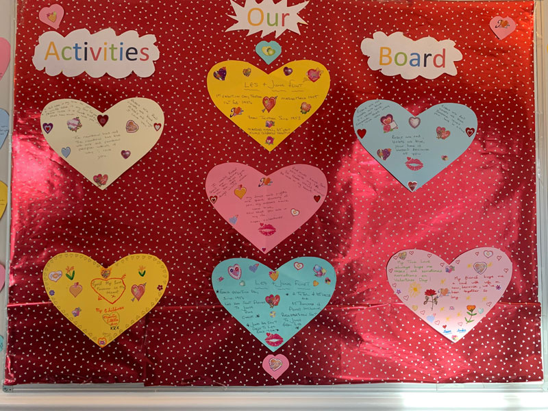 valentines day activities care home Gainsborough