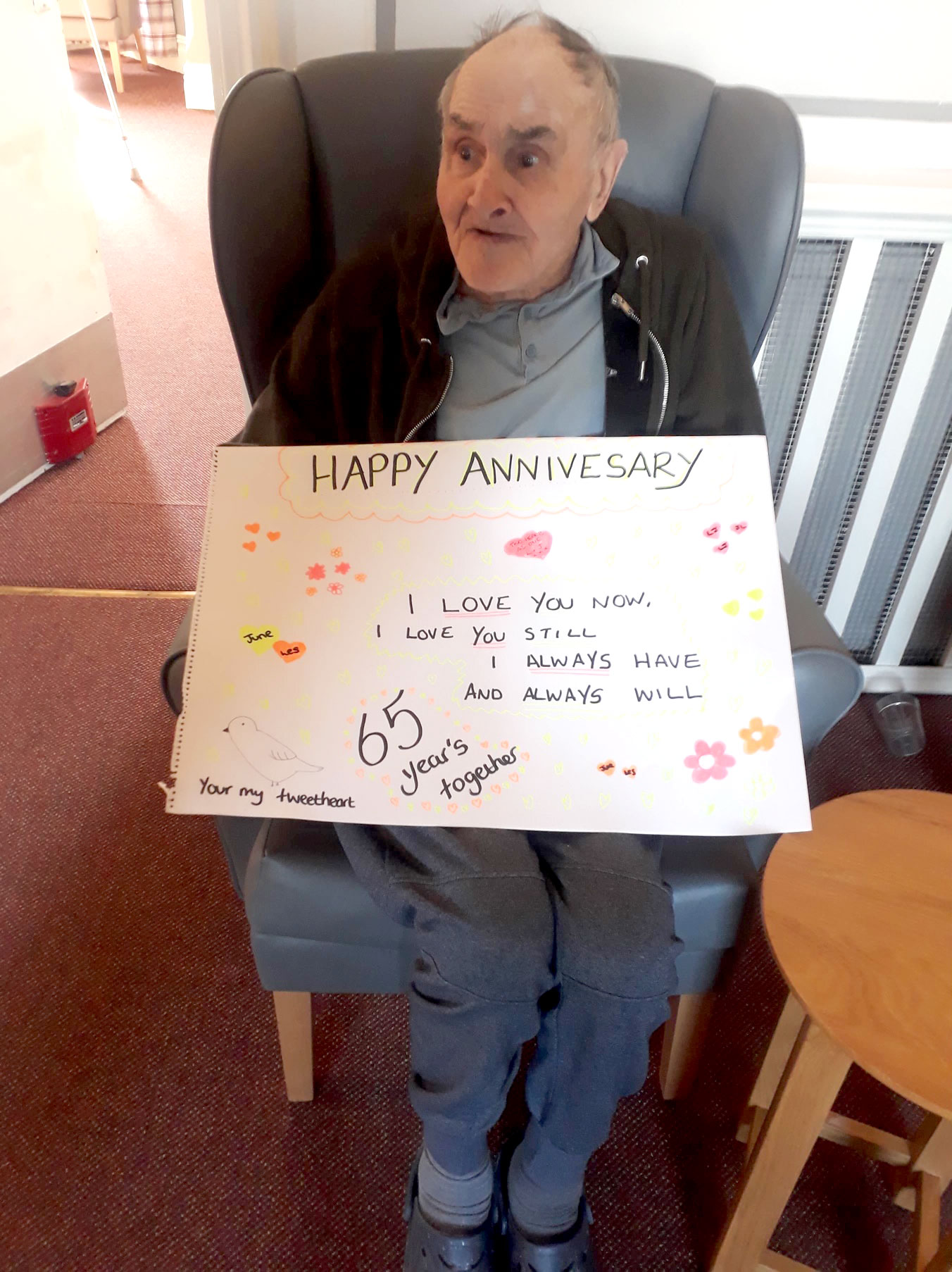 anniversary message care home Gainsborough
