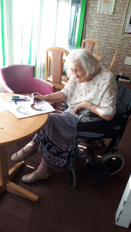 Joan rainbows care home Chesterfield