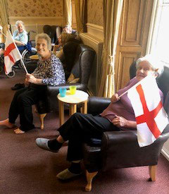 St Georges day celebrations nursing home Chesterfield