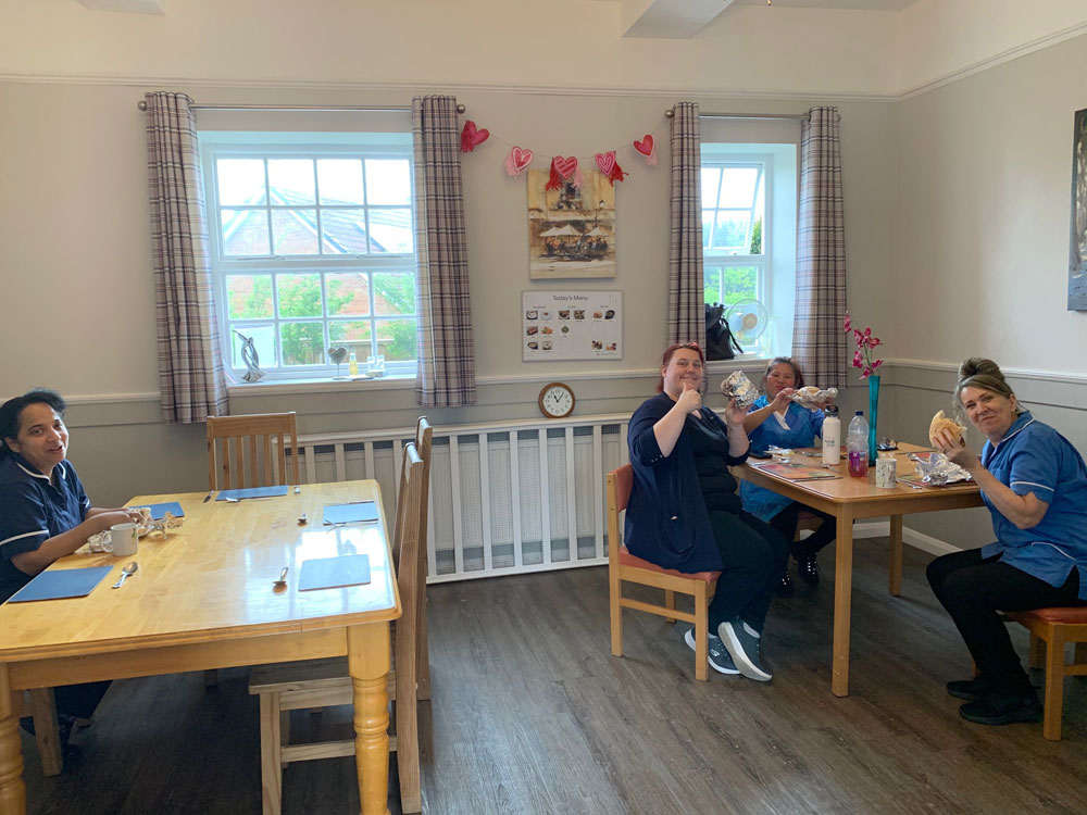 Staff breakfast care home Gainsborough