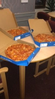 Domino's Pizza donation to care home in Chesterfield
