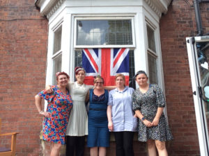 staff dressed up care home Rotherham