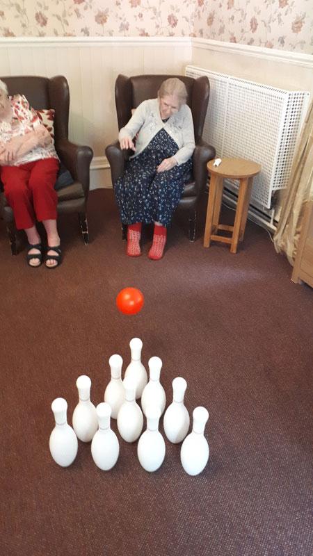 tenpin bowling nursing home Chesterfield