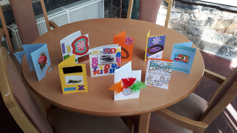 card making residential care home chesterfield