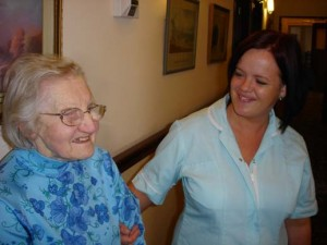 Charnley house nursing care home Hyde carer and resident