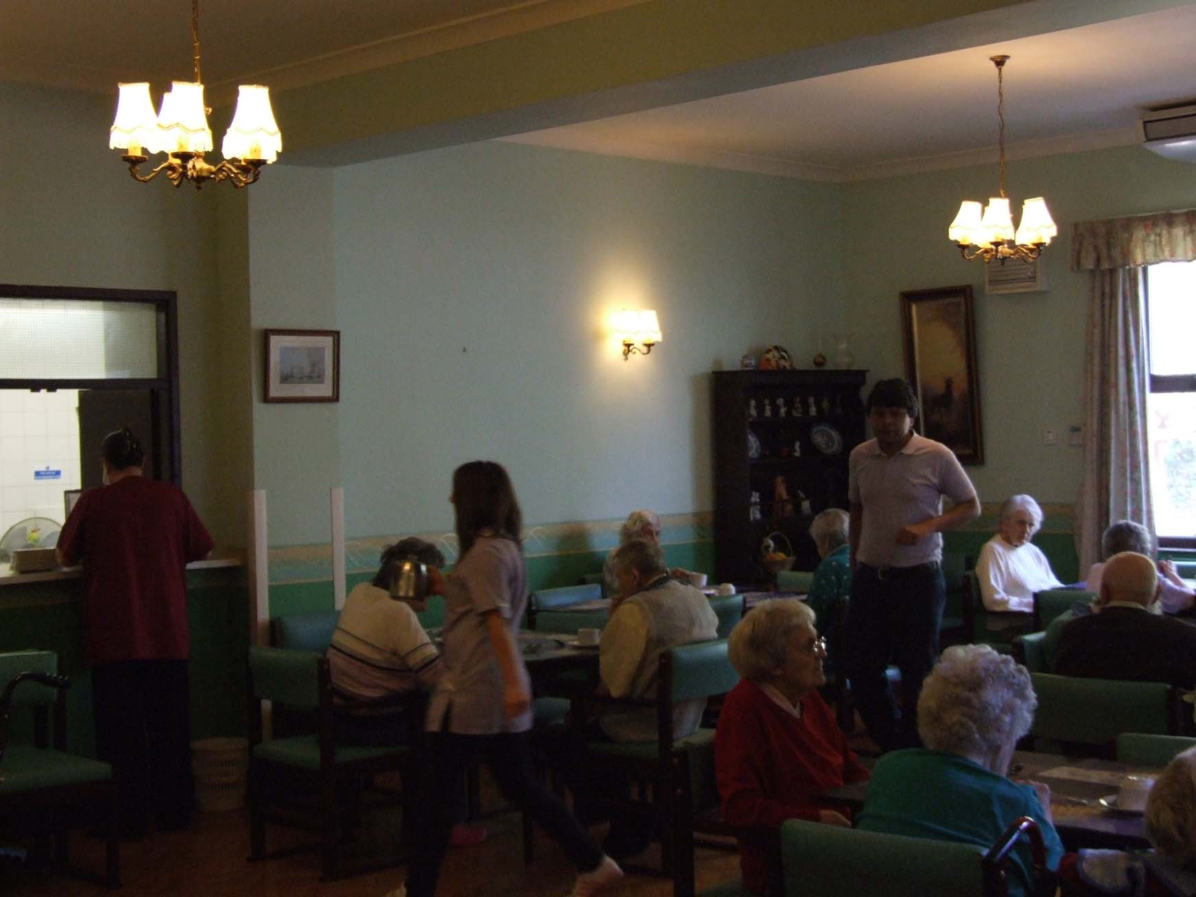 Charnley house nursing care home Hyde dining room