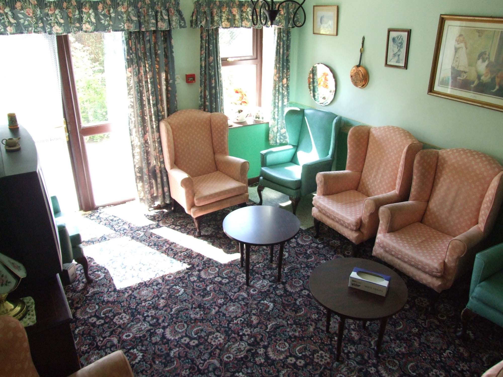 Charnley house nursing care home Hyde green lounge
