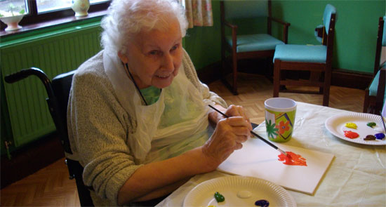 Charnley house nursing care home Hyde painting