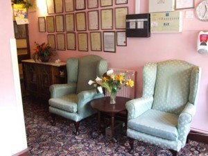 Charnley house nursing care home Hyde painting the hall