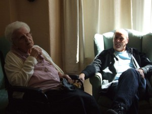 Charnley house nursing care home Hyde painting visitors