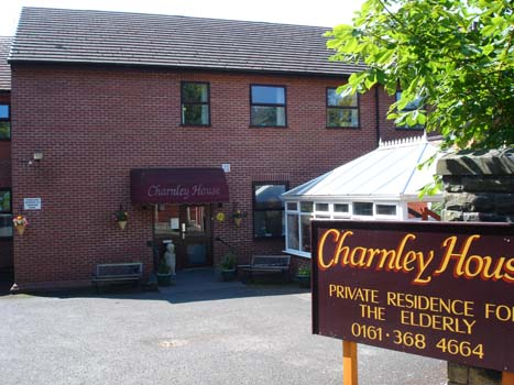 Front of Charnley house nursing care home Hyde