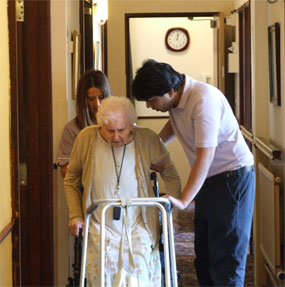 Charnley house nursing care home Hyde resident and carer