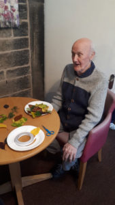 residential care home Chesterfield wreath making