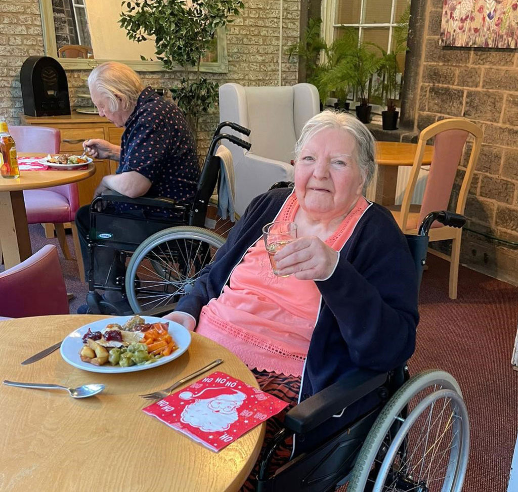 Christmas dinner care home Chesterfield