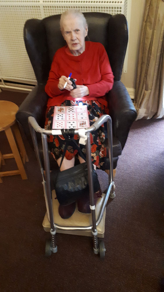 bingo care home Chesterfield