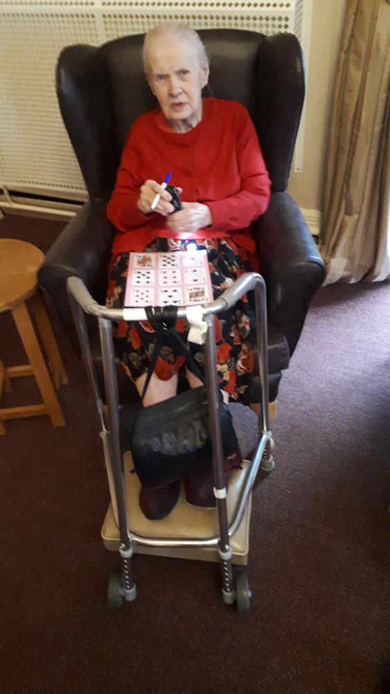 bingo care home Chesterfield