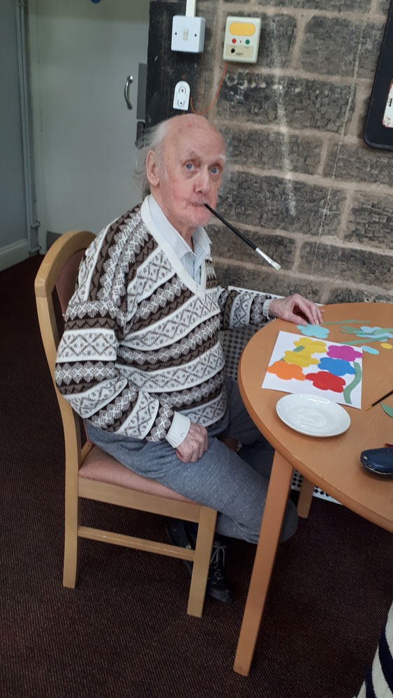 spring activities care home Chesterfield