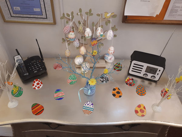 painted egg tree nursing home Chesterfield